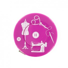 Retractable measuring tape - fuchsia Couture