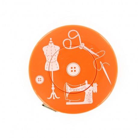 Mètre ruban enrouleur Couture - orange