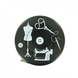Retractable measuring tape - black Couture