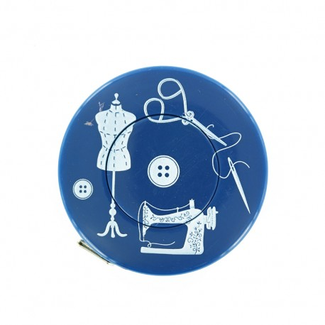 Retractable measuring tape - blue Couture