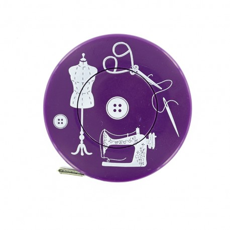 Mètre ruban enrouleur Couture - violet