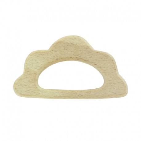 Organic natural wood teething ring - cloud