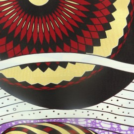 Tissu Wax - Kayar doré x 10cm