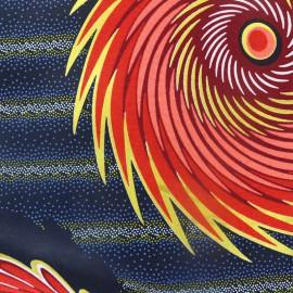 Tissu Wax - Pata doré x 10cm