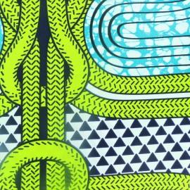 Tissu Wax - Aéré Lao x 10cm