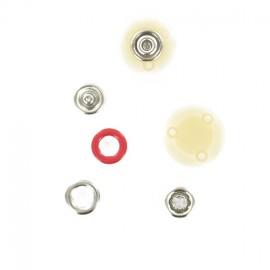 Bouton pression métal anneau BabySnap® 10mm - rouge