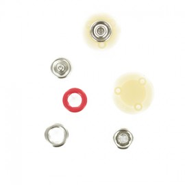 Metal Snap Button 10mm - red Ring BabySnap®