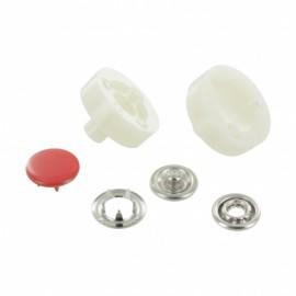 Bouton pression métal BabySnap® 10mm - rouge