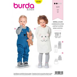 Jumpsuit and dress sewing pattern for kids - Burda N°9330