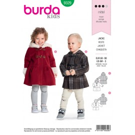Kid jacket sewing pattern  - Burda N°9329