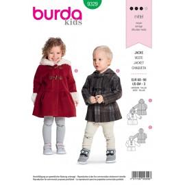 Patron veste pour enfant Burda N°9329