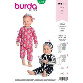 Patron combinaison pour bébé Burda N°9328