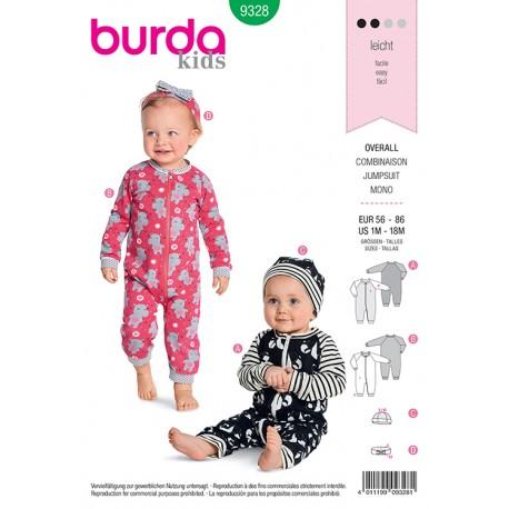 Patron ensemble pour bébé Burda N°9328