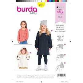 Kids dress and t-shirt sewing pattern - Burda N°9331