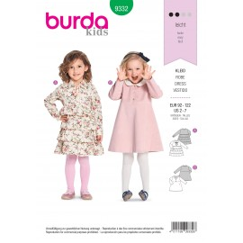 Kids girly dress sewing pattern - Burda N°9332