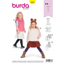Kids vest sewing pattern - Burda N°9333