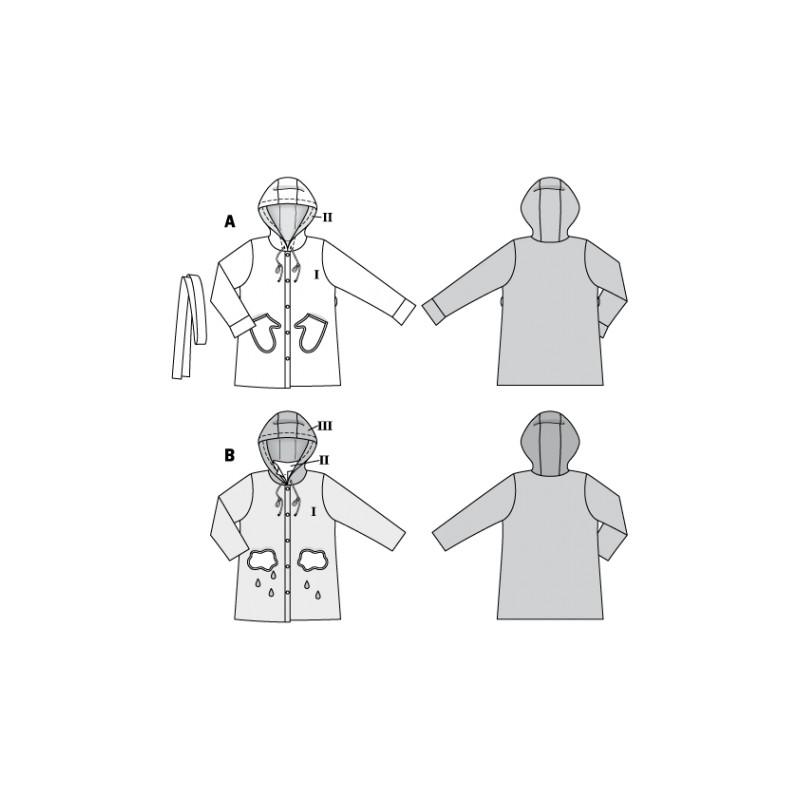 Kids jacket sewing pattern - Burda N°9334