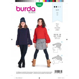 Kids pullover sewing pattern - Burda N°9335