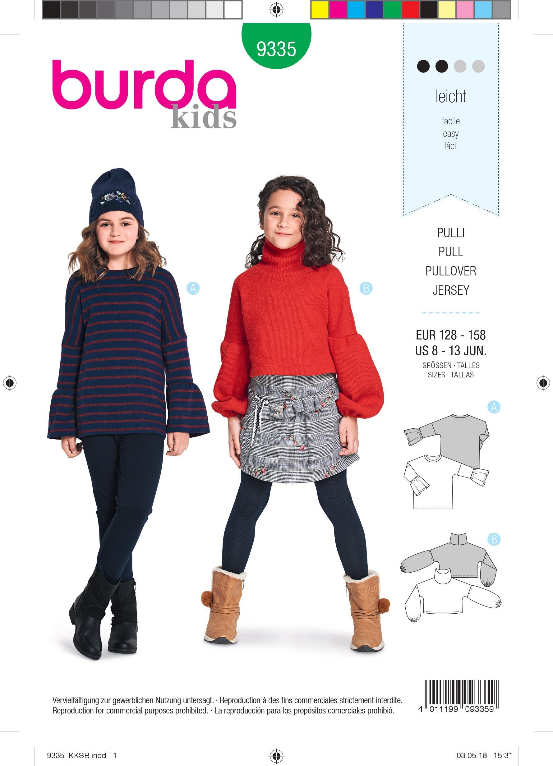 Kids pullover sewing pattern - Burda N°9335