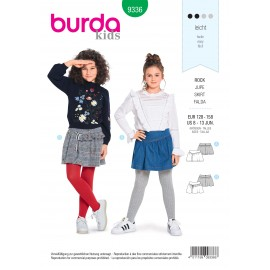 Girl skirt sewing pattern - Burda N°9336