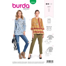 Blouse sewing pattern for women- Burda N°6354