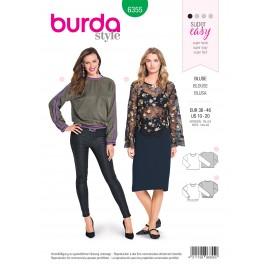 Women blouse sewing pattern - Burda N°6355