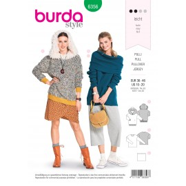 Women pullover sewing pattern - Burda N°6355