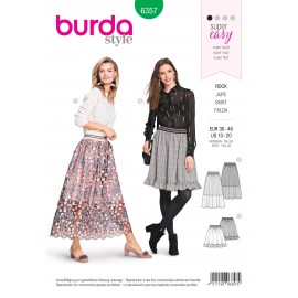 Skirt sewing pattern for women - Burda N°6357