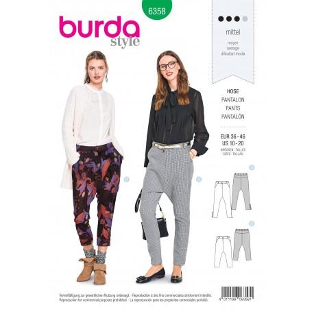 Patron pantalon femme Burda N°6358