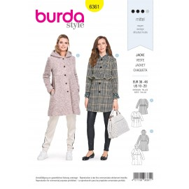 Jacket sewing pattern for women - Burda N°6361