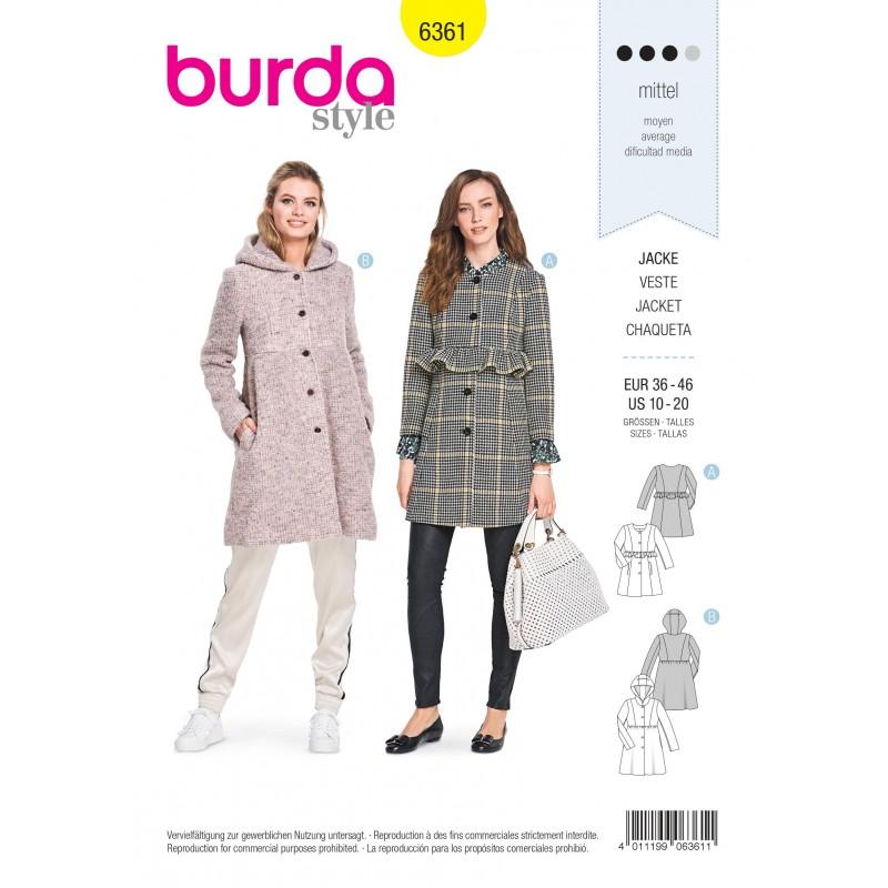 Parka Jacket Sewing Pattern For Women, Long Winter Coat Sewing Pattern