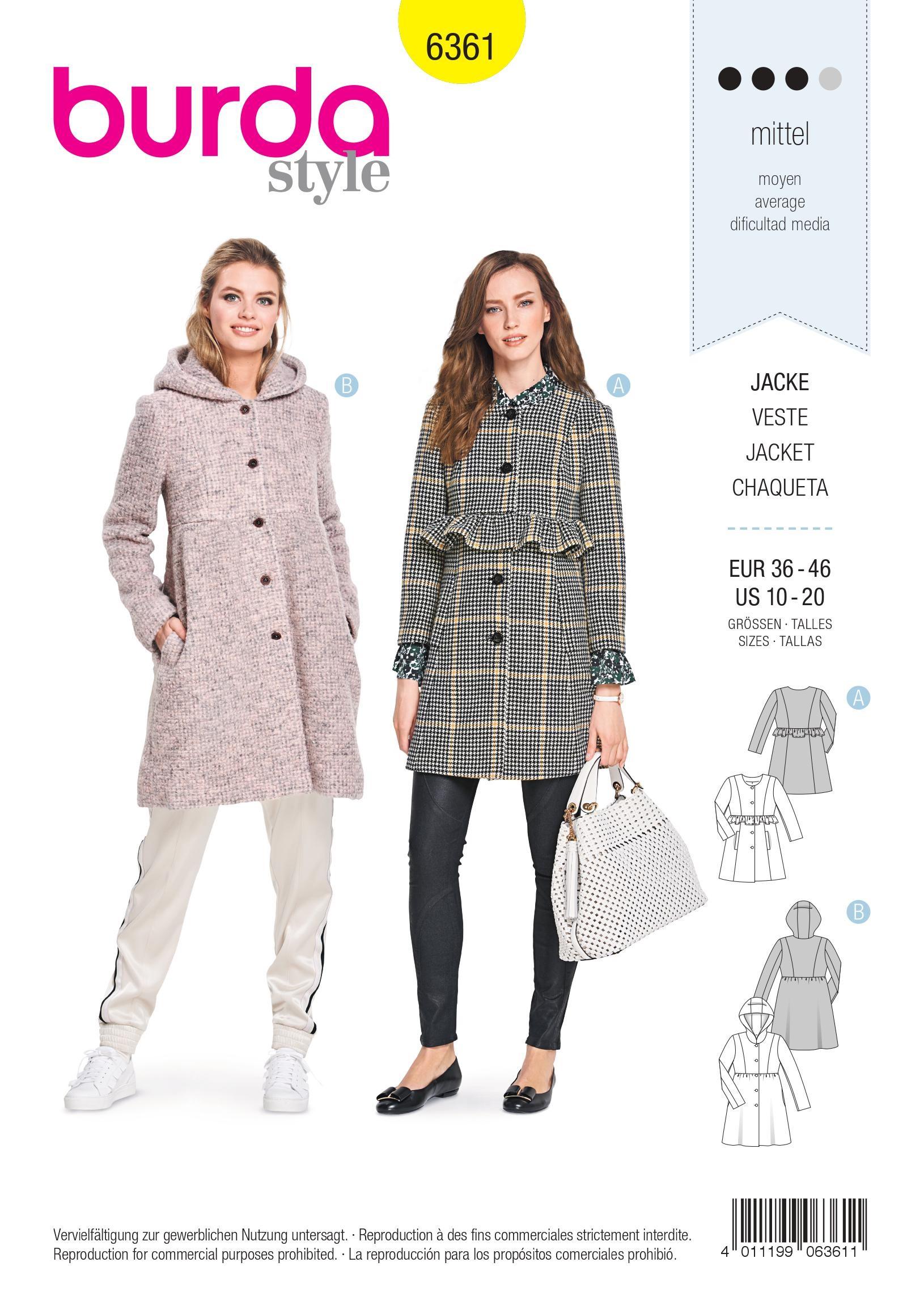 Veste velour col mouton femme