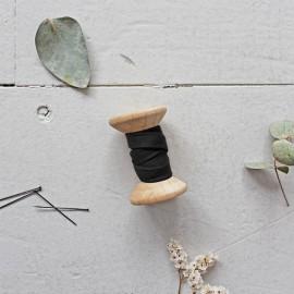 Biais gaze de coton Atelier Brunette - stardust black x 1m