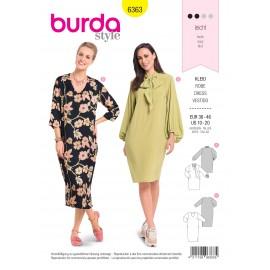 Patron robe femme Burda N°6363