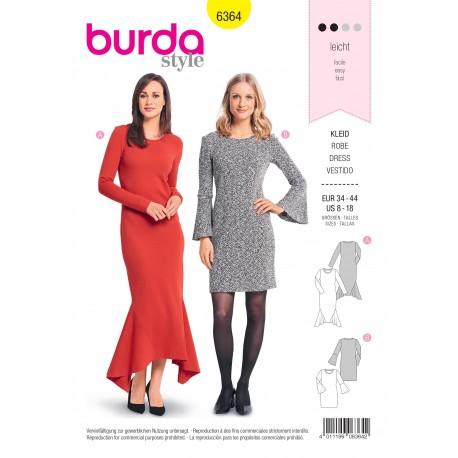 Dress sewing pattern for women - Burda N°6364