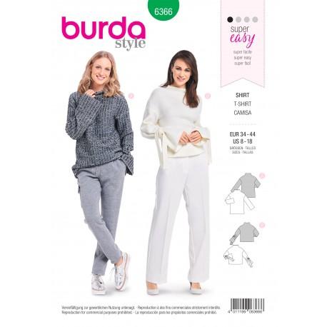Patron top femme Burda N°6366