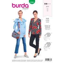 Blouse sewing pattern for women - Burda N°6368