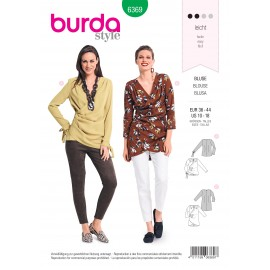 Blouse sewing pattern for women - Burda N°6369