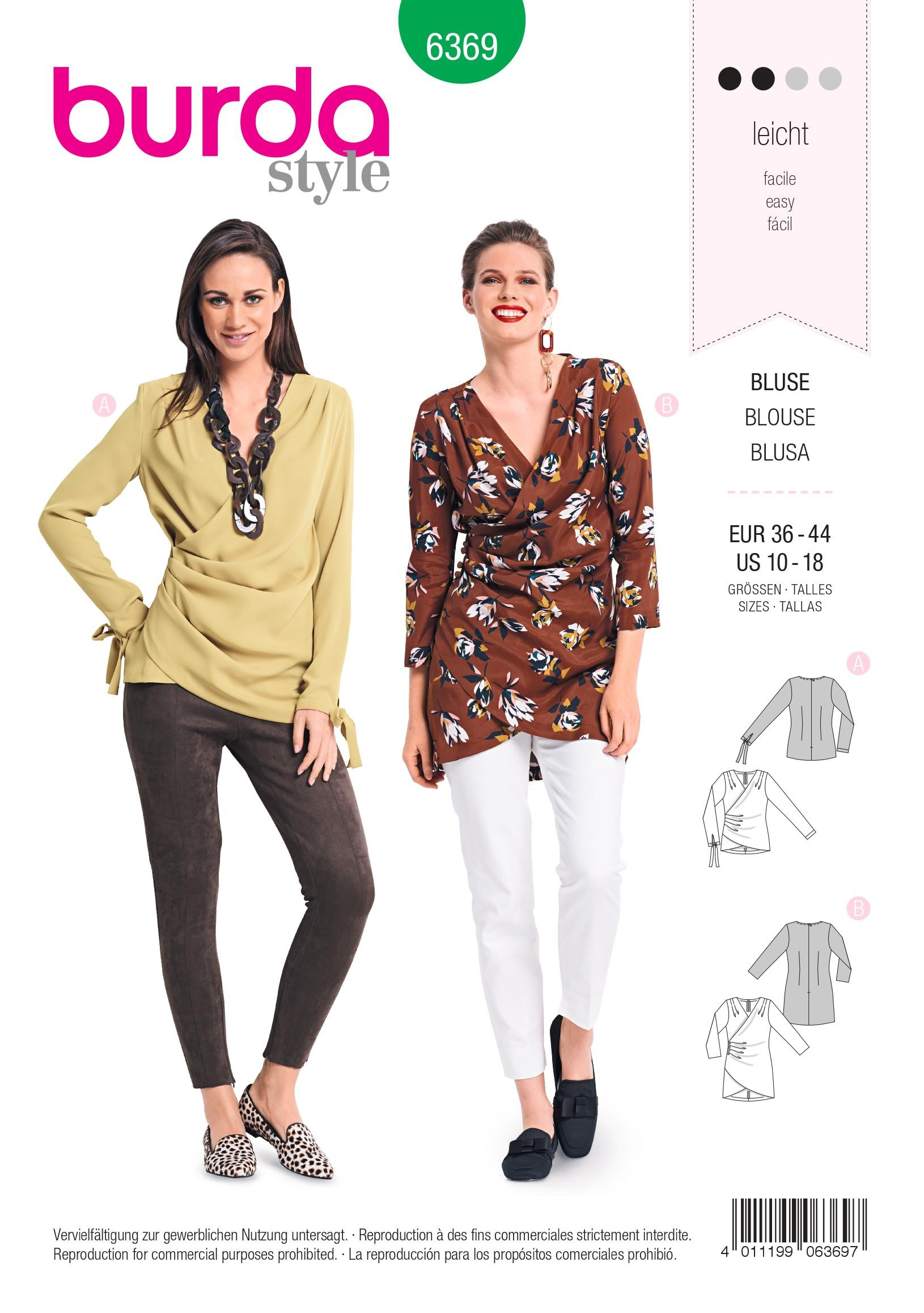 Burda Ladies Easy Sewing Pattern 6533 Blouse Tops Christmas Ornament