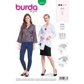 Blouse sewing pattern for women - Burda N°6373