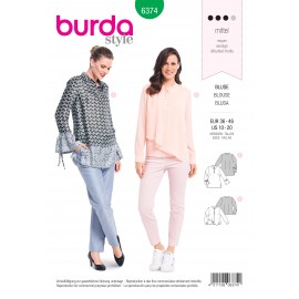 Blouse sewing pattern for women - Burda N°6374