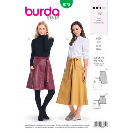 Skirt Sewing Pattern for Women - Burda N°6375