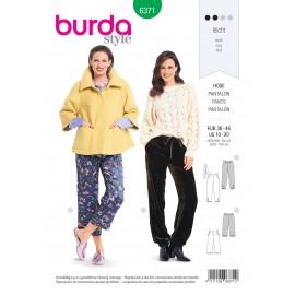Patron Pantalon Femme Burda N°6371