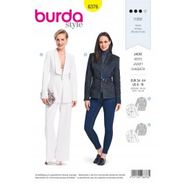 Jacket Sewing Pattern for Women - Burda N°6376