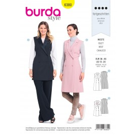 Vest Sewing Pattern for Women - Burda N°6380