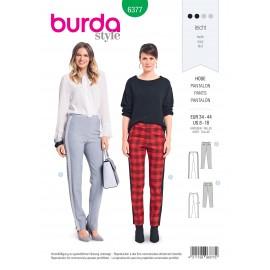 Patron Pantalon Femme Burda N°6377