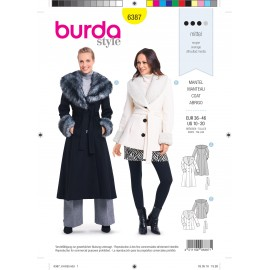 Coat sewing pattern for women - Burda N°6387