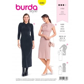Dress sewing pattern for women - Burda N°6382