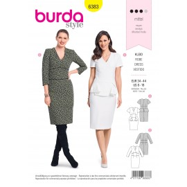 Dress sewing pattern for women - Burda N°6383