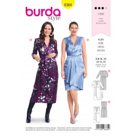 Dress sewing pattern for women - Burda N°6384